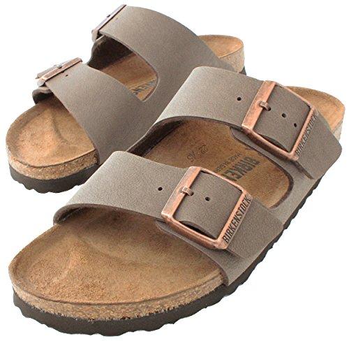 Birkenstock Arizona Mocha Birko-Flor 'Narrow Fit' Women's Sandals (Narrow Width, 7-7.5 US Women - 38 N EU)