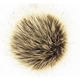 Pack of 12 Faux Fox Fur Pompoms Ball for Knitting Hats DIY 12CM 4.7inch Fur Pompoms (Brown)