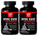 Nitric Oxide creatine powder - Nitric Oxide Pre-Workout Booster 3150mg - L-Arginine Pre-workout For Muscle Building - (2 Bottles 180 Tablets)
