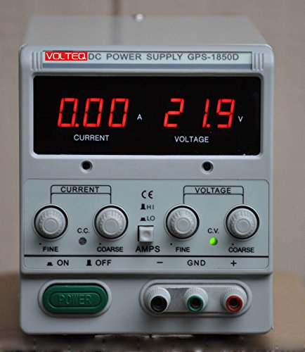 Volteq 5 Amp Digital Plating Rectifier with Leads, 115/230v