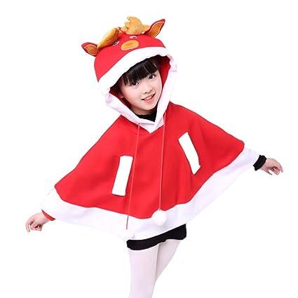 QIAOY Vestido De Las Niñas Traje De Santa Navidad Disfraces ...