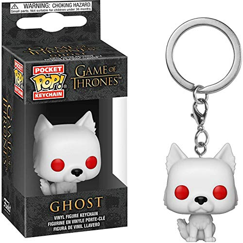 (Funko Ghost: Game of Thrones x Pocket POP! Mini-Figural Keychain + 1 Official Game of Thrones Trading Card Bundle [34910])