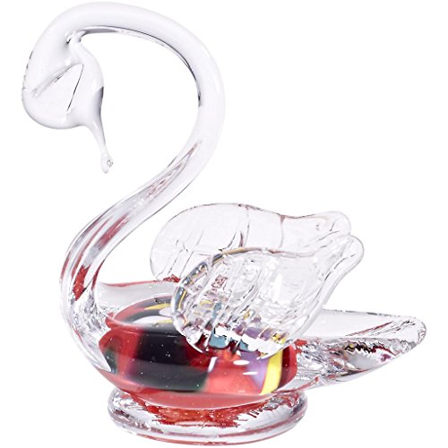 glass-statue-swan-figurine-collection-schwan-12-red-12-cm-unique-handmade-glass-modern-style-beautif