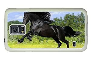 Hipster Samsung Galaxy S5 Case durable cover Wild Stallion PC White for Samsung S5 by icecream design
