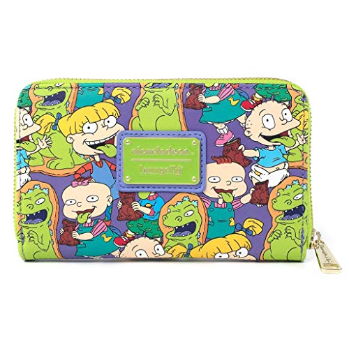Loungefly Nickelodeon Rugrats Reptar Bar All Over Print Zip Around Wallet