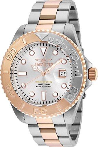 Invicta Men's 'Pro Diver' Quartz Stainless Steel Diving Watch, Color:Two Tone (Model: 24624)