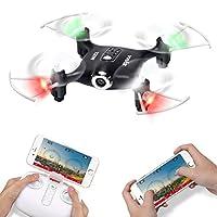 Syma X21W Wifi FPV Mini Drone With Camera Live Video LED Nano Pocket RC Quadcopter With GYRO App Control from DoDoeleph