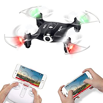 Syma X21W Wifi FPV Mini Drone With Camera Live Video LED Nano Pocket RC Quadcopter With GYRO App Control from DoDoeleph