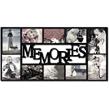 Adeco PF0459 Decorative Black Plastic Memories Wall Hanging Collage Picture Photo Frame, 4 X 6,Black