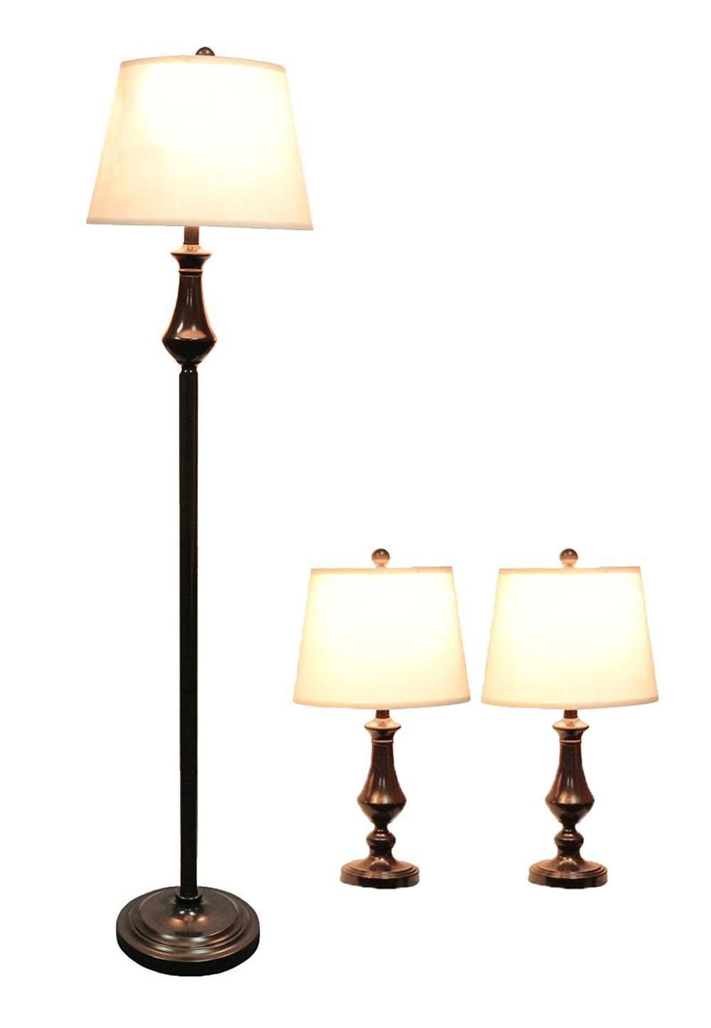 Urbanest Grant 3 Piece Table And Floor Lamp Set In Oil Rubbed Bronze
