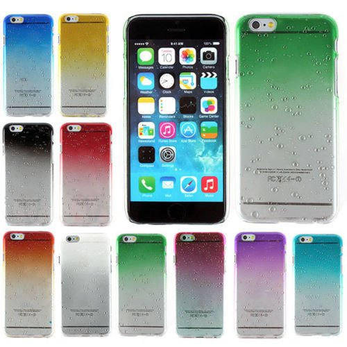 """Tech Express (Tm) Ultra Slim 3D Water and Rain Drop Droplet Crystal Layer Cover Case for Apple iPhone 6 / 6g 4.7"""" (Red)"""