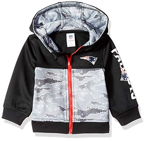 NFL New England Patriots Unisex-Baby Hooded Jacket, Black, 12 Months ()