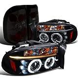 Spec-D Dodge Dakota Glossy Black Halo Led Projector Headl...