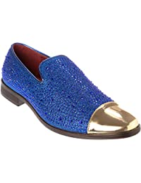 Shoes Picker sparko12 Mens Slip-On Fashion-Loafer Sparkling-Glitter Dress-Shoes