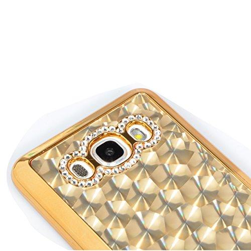 Sunroyal®para Samsung Galaxy J5 (2016 ) J510 Funda Reflexión Brillante Lujo Espejo Carcasa Aluminio Carcasa Oro Metal Mirror Bumper Phone Case Hard Cover With Frame Caja del Teléfono Protectora Cáscar Diseño 17