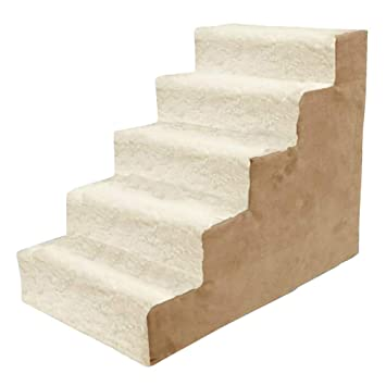 Escalera para mascotas Pasos para Gatos Escalera para Perros Mediana Tapete para Gatos Grande, Banda De Rodadura Lavable Extraíble (Tamaño : 5 Step): ...