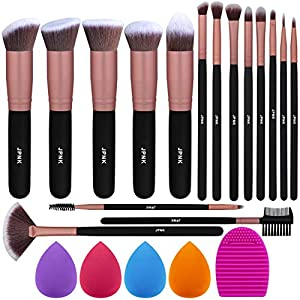 Best Epic Trends 51i4t1iiHQL._SS300_ JPNK Rose Gold Makeup Brush Set, 16 Makeup Brushes & 4 Blender Sponge & 1 Brush Cleaner Premium Synthetic Foundation…