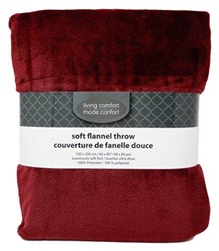 Luxury Soft Flannel Throw Blanket Size 60