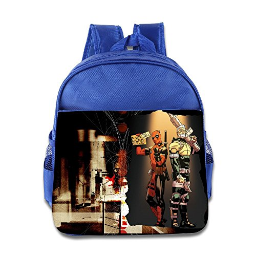 Deadpool & Cable Pool Cable I'm With Stupid Kids School Backpack Bag (I M A Super Hero Costume)