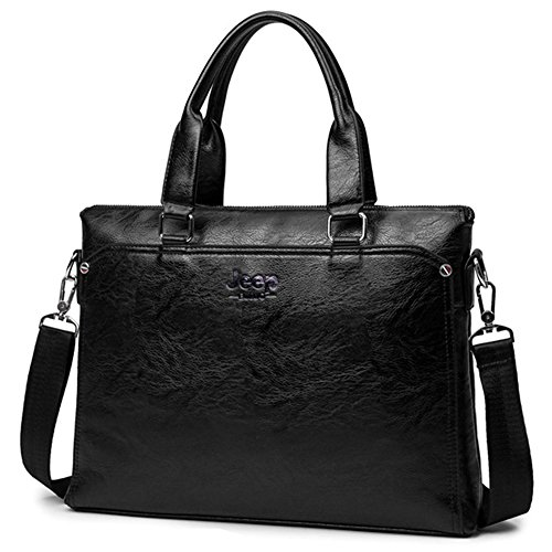 3090 Business Bag Black Pu Tote k Waterproof Jn Computer Shoulder Men's A4 Leather 2018 Brown Diagonal dv8dxqUw