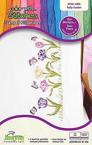 The Janlynn Corporation Tulip Garden Pillowcase Pair