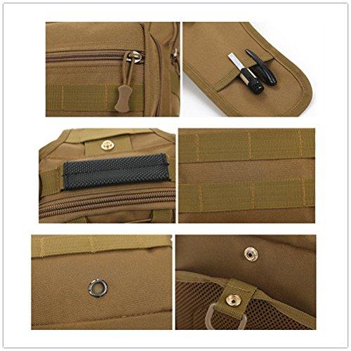 BAITER multifunción Magic tipo militar táctico mochila de senderismo cámara de un solo hombro Pesca paquetes de cintura los deportes ocio pecho paquete, Desert digital marrón