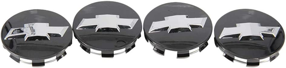 Cardiytools 4PC Black 83MM 3.25 Wheel Center Caps for Chevy Silverado Suburban Tahoe