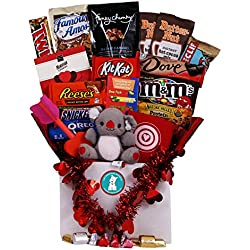 Chocoholic Valentine's Day Care Package - Great for College Students, Military Troops or to Wish Anyone a Happy Valentine's Day