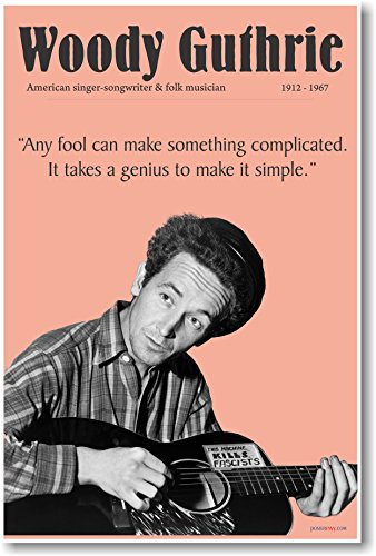 Woody Guthrie - New Famous Musician Poster