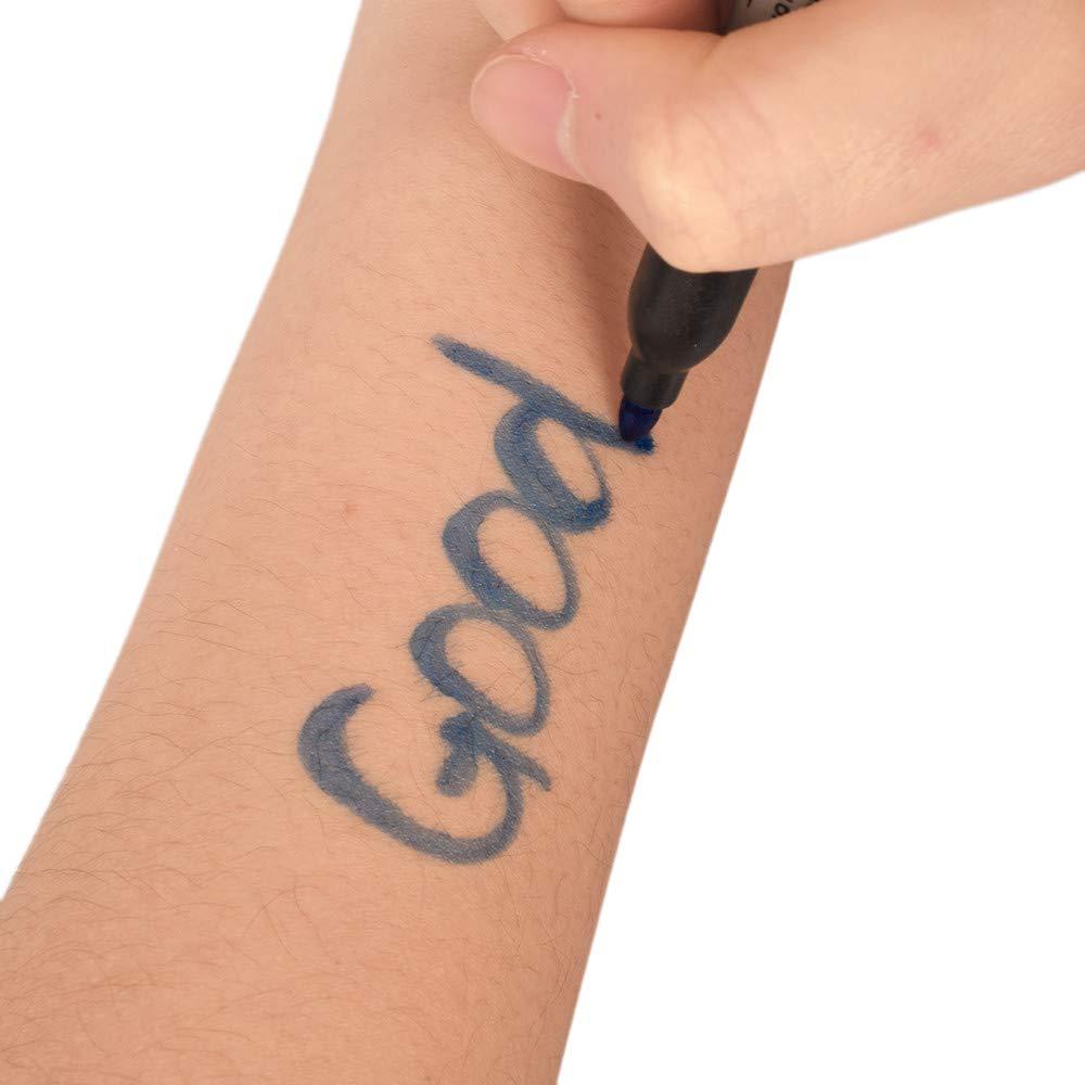 12 colores Tattoo Marker Pen Bolígrafos impermeables de tatuaje ...