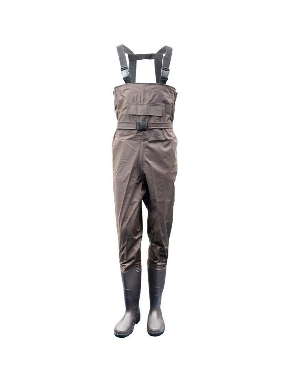 Erwachsene Wathose Anglerhose wasserdicht Angel-Hose Arbeit Hose mit Stiefel