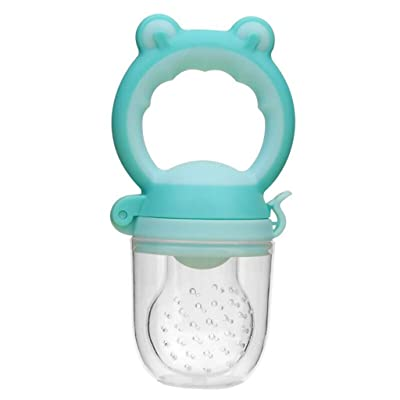 Toddlers Baby Teether Vegetable Fruit Feeder Infant Teething Toy Ring Chewable Soother: Clothing