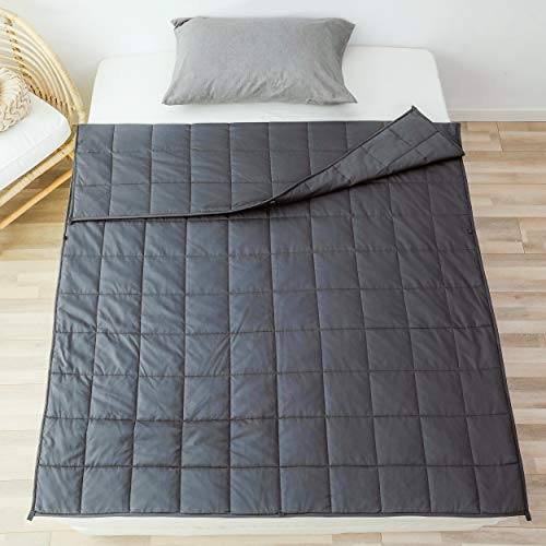 Cheap Sleepymoon Weighted Blanket (20lbs 60 x80 ) | Extra Soft | for Adults | Full Size | King Size | Calm Sleeping | Grey | Breathable 100% Cotton with Glass Beads Black Friday & Cyber Monday 2019