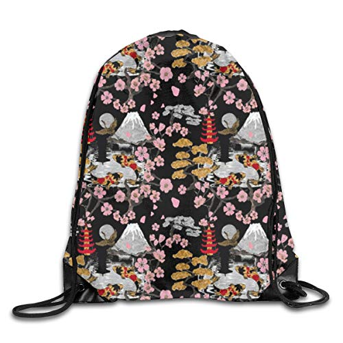 8510317fe4e7 Japan Sukiyaki Drawstring Backpack Bag Rucksack Shoulder Sackpack Sport Gym  Yoga Runner Beach Hiking Dance