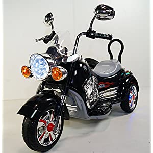 rideONEcar. NEW KIDS MOTORCYCLE- B-SX138-black BATTERY OPERATED RIDE ON TOY MOTORCYCLE WITH REMOTE CONTROL 12 VOLTS