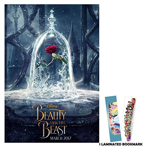 Beauty and The Beast (2017) - Flower - 13 in x 19 in Movie Poster Flyer BORDERLESS + Free Bookmark