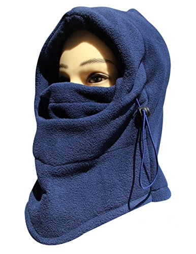 Top Seller Newest and Functional 6 in 1 Neck Warm Helmet Winter Face Hat Fleece Hood Ski Mask Equipment A-blue Large