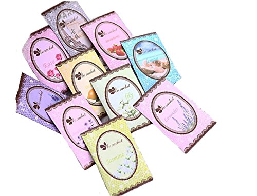 BeneKing 12 PCS Fresh Clothes Fragrant Scented Sachets Bags,Suitable for Drawers and Closets Room Wardrobe Bathrooms,6g Fragrant Sachet