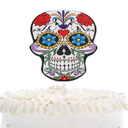 Sugar Skull Wedding Cake Topper - Day