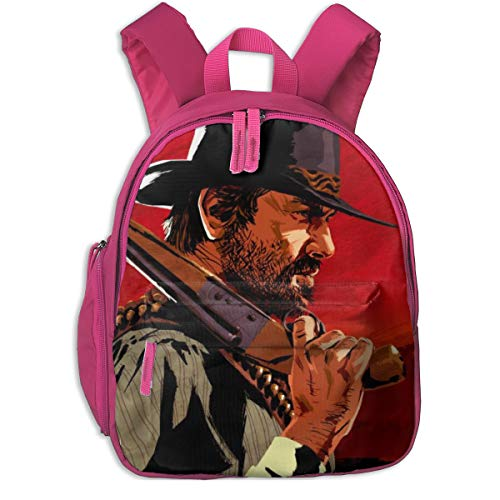 NEWBAG105FASHION Red Dead Redemption Gun Unisex Student Schoolbags Shoulder Bags Camping Gym School Backpacks Bookbag Daypack for Boys Girls
