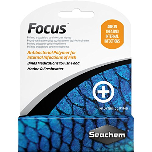 Seachem Focus Freshwater and Marine Fish Medication, 5 Grams ()