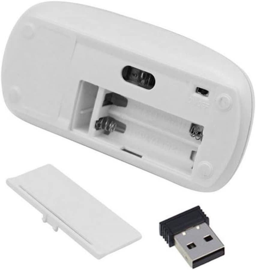 Generic Slim 2.4 GHz Optical Wireless Mouse Mice with USB Receiver For Laptop PC Macbook White