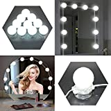Vanity Mirror Lights LED 6500K Waterproof Makeup Mirror Lights Blubs Kits Dimmable 3Watt Lighting Fixture Strip for Dressing Table Vanity Set Mirrors in Dressing Room Bathroom (White 1)