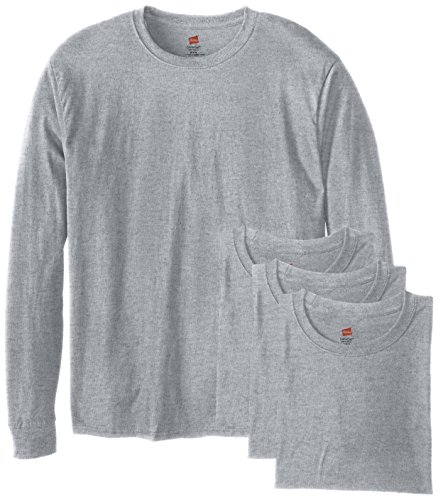 Hanes ComfortSoft Men's Long-Sleeve T-Shirt 4-Pack Light Ste