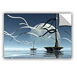 Artwall 0dec025a3248p Cynthia Decker's Ribbons, Art Appeelz Removable Wall Art Graphic, 32-inch X 48-inch