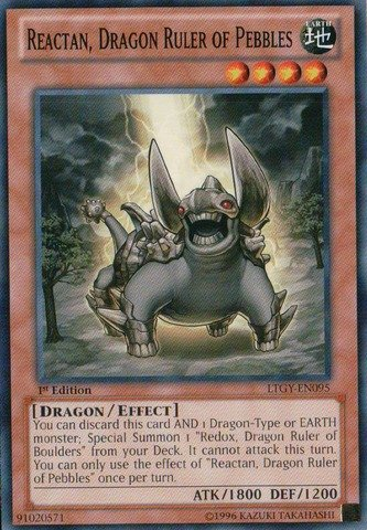 Yu-Gi-Oh! - Reactan, Dragon Ruler of Pebbles (LTGY-EN095) - Lord of the Tachyon Galaxy - 1st Edition - Common