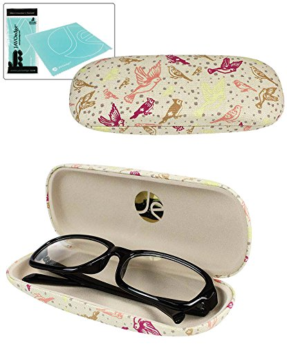 JAVOedge Beige Flying Birds Glass Case (Includes Free Cleaning Cloth)