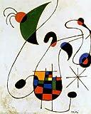 The Melancholic Singer Art Poster Print by Joan Miró, 41x51 cm