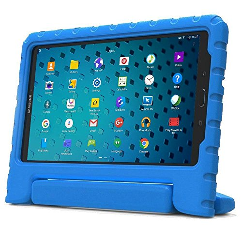 Samsung Galaxy Tab 3 Lite 7 & Tab E 7.0 kids case, COOPER DYNAMO Rugged Heavy Duty Children Boys Girls Tough Drop Proof Protective Case Cover Handle, Stand SM-T111 T110 T113 SM-T280 T285 Blue