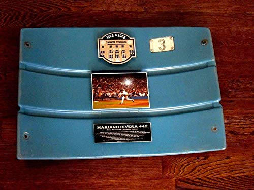 Mariano Rivera Hof # 3 Ruth Old Yankee Stadium L/e Game Used Seat Back - Steiner Sports Certified - Game Used MLB Stadium Equipment ()